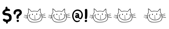 DK Smiling Cat Font OTHER CHARS