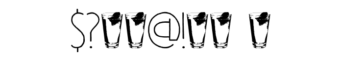 DK Southside Fizz Regular Font OTHER CHARS