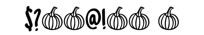 DK Spiced Pumpkin Regular Font OTHER CHARS