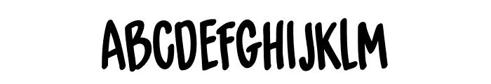 DK Spiced Pumpkin Regular Font UPPERCASE