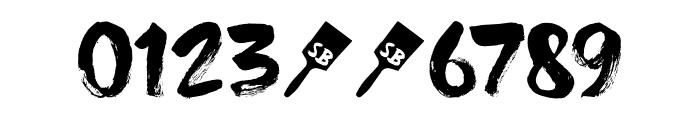 DK Superbrush Regular Font OTHER CHARS