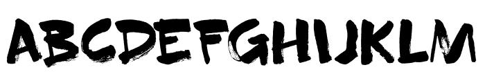 DK Superbrush Regular Font UPPERCASE