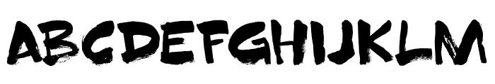 DK Superbrush Regular Font LOWERCASE