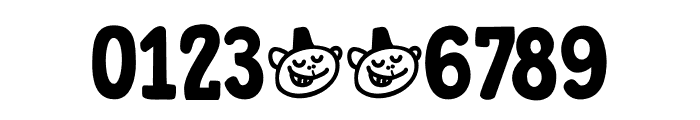 DK Trained Monkey Regular Font OTHER CHARS