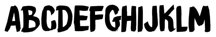 DKBrushCrush Font UPPERCASE