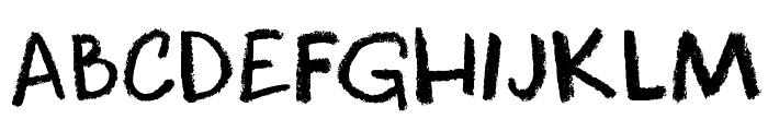 DKCoolCrayon Font UPPERCASE