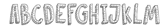 DKCosmoStitch Font UPPERCASE