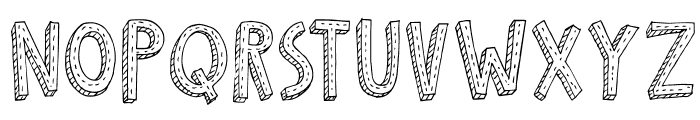 DKCosmoStitch Font LOWERCASE