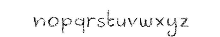 DKCrayonista Font LOWERCASE