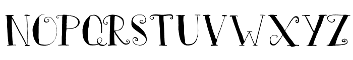 DKFatherFrost Font UPPERCASE