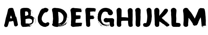 DKInkyFingers Font UPPERCASE