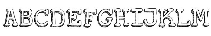 DKKoerier Font UPPERCASE