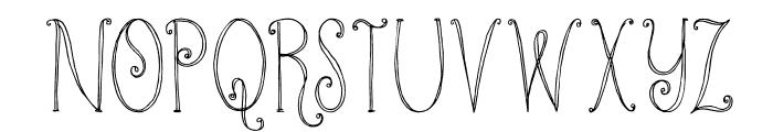 DKKundalini Font UPPERCASE