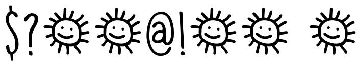 DKLemonYellowSun Font OTHER CHARS