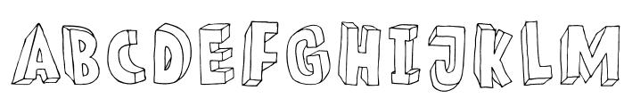 DKMeshuggeneh Font UPPERCASE