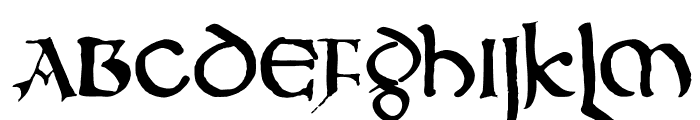 DKNorthumbria Font UPPERCASE