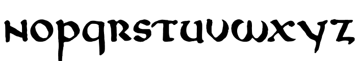 DKNorthumbria Font LOWERCASE