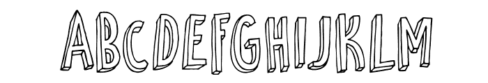 DKPetitFour Font UPPERCASE
