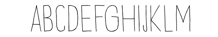 DKPetitOiseau Font UPPERCASE