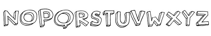 DKRosyLee Font UPPERCASE
