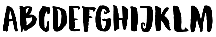 DKRubyRed Font UPPERCASE