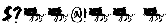 DKScrawnyCat Font OTHER CHARS