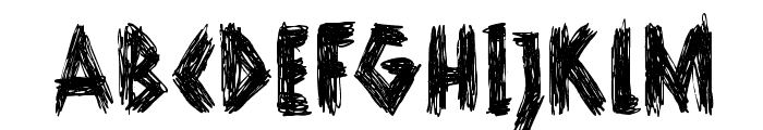 DKScurvyDog Font UPPERCASE