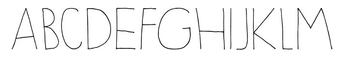 DKSleepyTime Font UPPERCASE