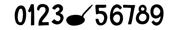 DKSugaryPancake Font OTHER CHARS