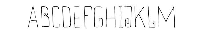 DKThievery Font UPPERCASE