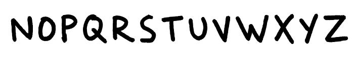 Dker Felt Pen Font UPPERCASE