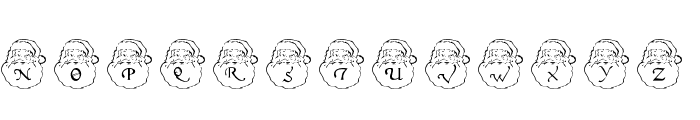 DLSantaCaps Font UPPERCASE