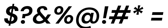 DM Sans Bold Italic Font OTHER CHARS