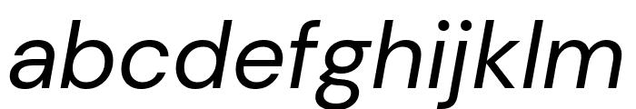 DM Sans Italic Font LOWERCASE