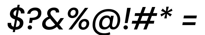 DM Sans Medium Italic Font OTHER CHARS
