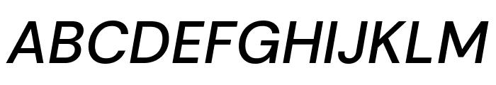 DM Sans Medium Italic Font UPPERCASE
