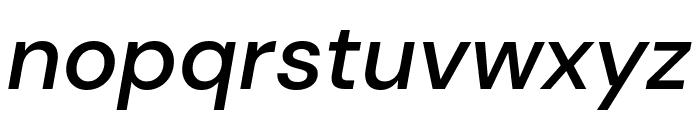 DM Sans Medium Italic Font LOWERCASE