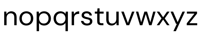 DM Sans Regular Font LOWERCASE