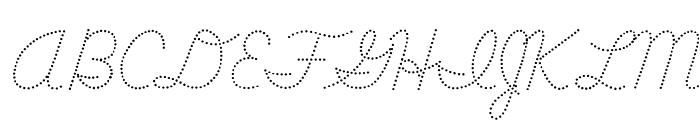 DmoDNConnectDot Font UPPERCASE