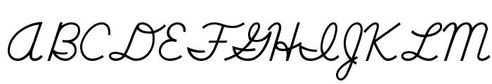 DmoDNCursive-Regular Font UPPERCASE