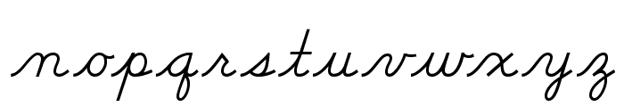 DmoDNCursive-Regular Font LOWERCASE