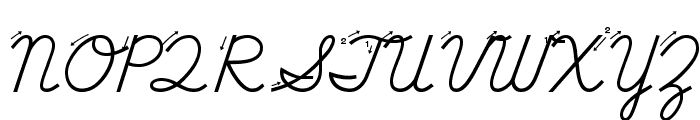 DmoDNCursiveArrow Font UPPERCASE