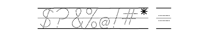 DmoDNCursiveArrowDotLine Font OTHER CHARS