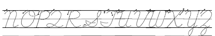 DmoDNCursiveArrowDotLine Font UPPERCASE