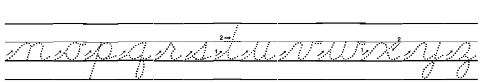 DmoDNCursiveArrowDotLine Font LOWERCASE