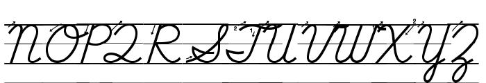 DmoDNCursiveArrowLine Font UPPERCASE