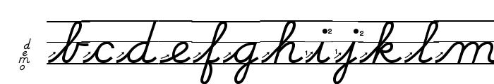 DmoDNCursiveArrowLine Font LOWERCASE