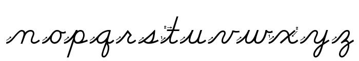 DmoDNCursiveArrow Font LOWERCASE