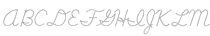 DmoDNCursiveDot Font UPPERCASE