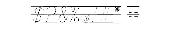DmoDNCursiveDotLine Font OTHER CHARS